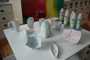 Keramikwerke - entstanden im Atelier AusZeit Bad Nenndorf bei Hannover