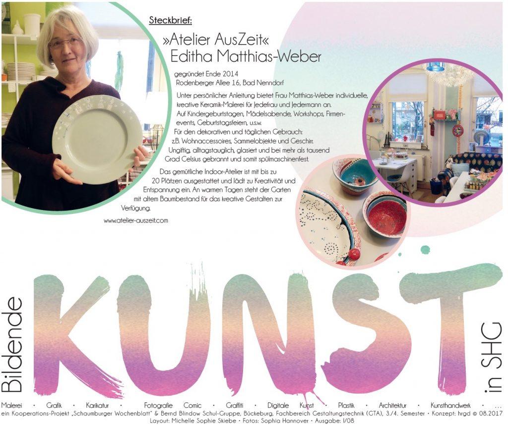 Bildende Kunst im Schaumburger Wochenblatt