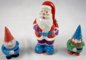 Weihnachtsmann mit Wichteln
